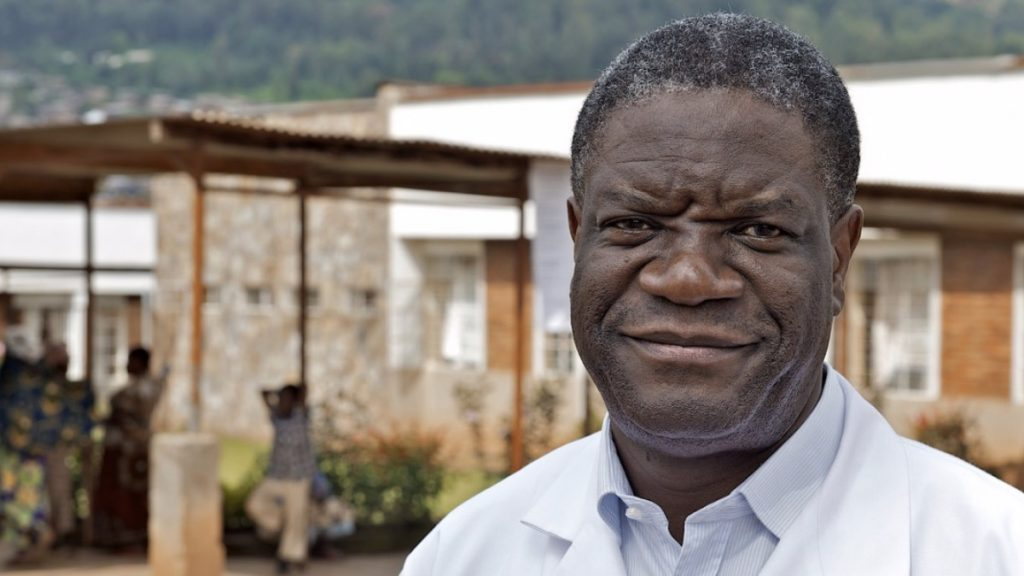 Dr. Denis Mukwege, winner of the 2018 Nobel Peace Prize